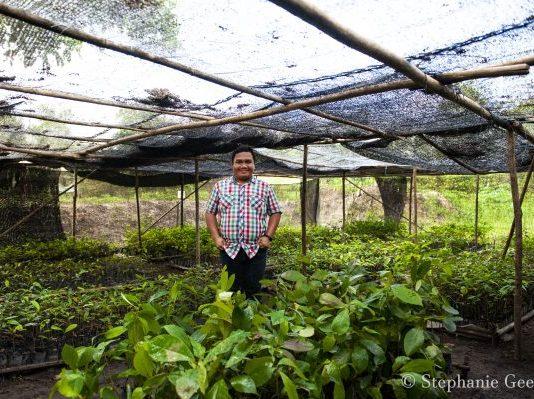 ASRI (Alam Sehat Lestari) conservation director Dika in ASRI's nursery