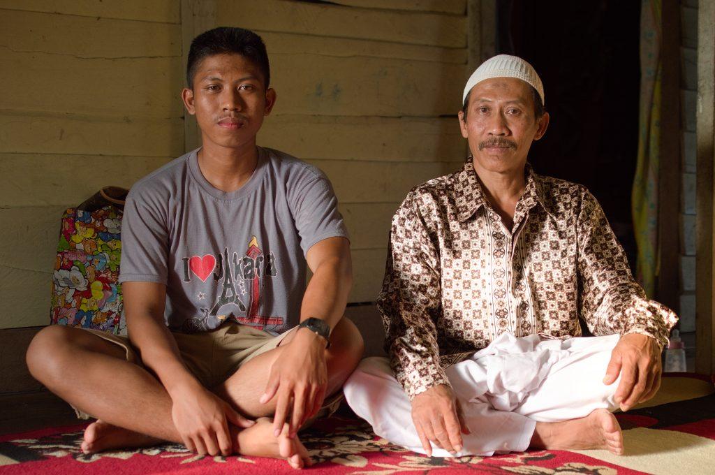 Pak Didin and his son, Rusli