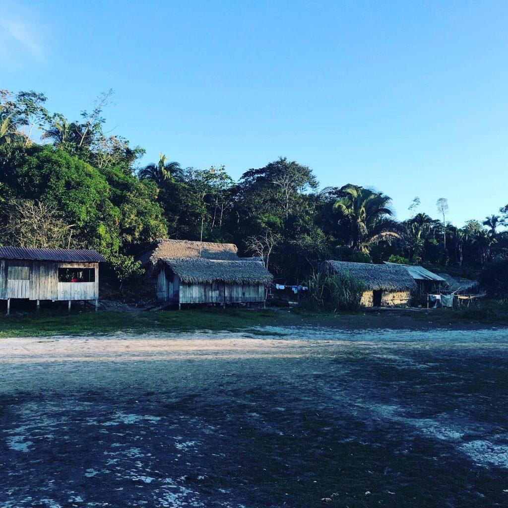 Xingu homes in Amazon rainforest